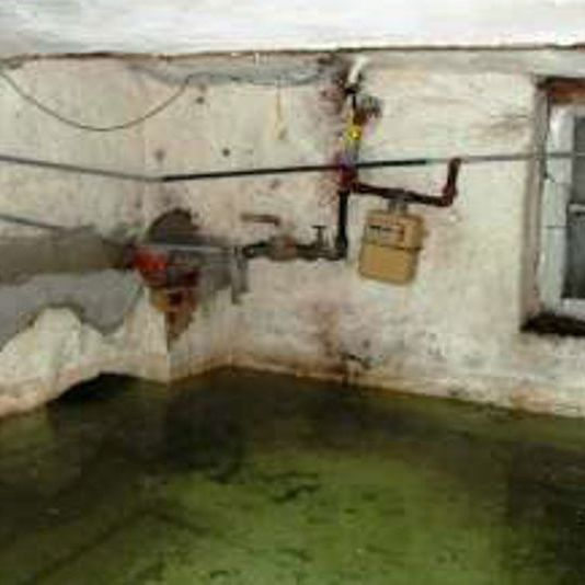 Basement under water - gas and water can not be reached