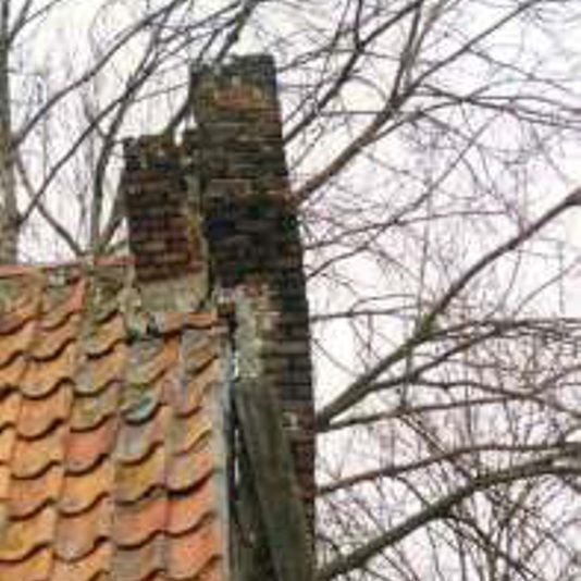 Unstable outdoor roof chimney